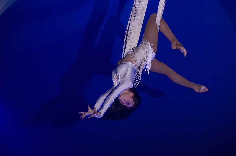Netz-Akrobatik